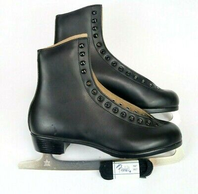 $149.99 • Buy Vintage RIEDELL Red Wing MN 121 Black Ice Skates Men's Size 10
