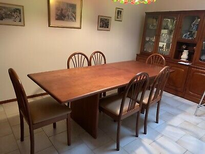 AU600 • Buy Solid Wood Extendable Dining Table + 6 Chairs