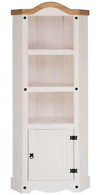 £99.99 • Buy Corona White Corner Display Unit - Mexican Solid Pine, Rustic, Distressed