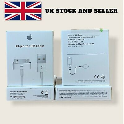 £6.50 • Buy Genuine Apple IPhone 4 IPad IPod 30 Pin To USB Charger Charging Cable Lead
