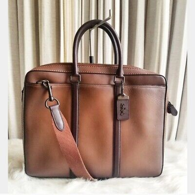 $350 • Buy Coach Glove Tanned Leather Slim Briefcase