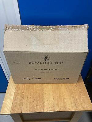 £50 • Buy Royal Doulton Daily Mail 24% Lead Crystal Glasses X 8