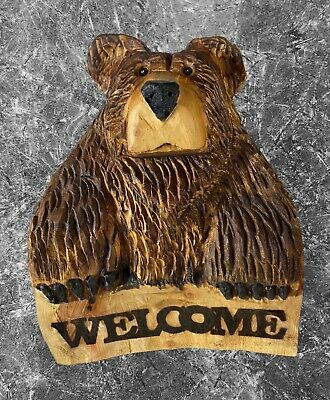 £125 • Buy Chainsaw Carved  Bear Carvings Bear Welcome Bear  Garden Outdoors Signs