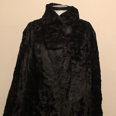£149.99 • Buy VINTAGE 1920s COAT VELVET WITH HUGE SIDE BUTTONS & YELLOW SATIN LINING UK 12/14