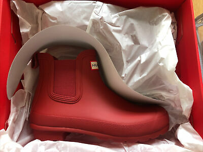 £64.99 • Buy @SALE@ Brand New Hunter Red Short Wellington Boots Size 6 Wellies Chelsea Womans