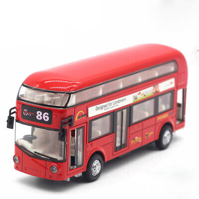 $ CDN21.80 • Buy Double Decker London Bus Model Car Diecast Gift Toy Vehicle Kids Pull Back Red