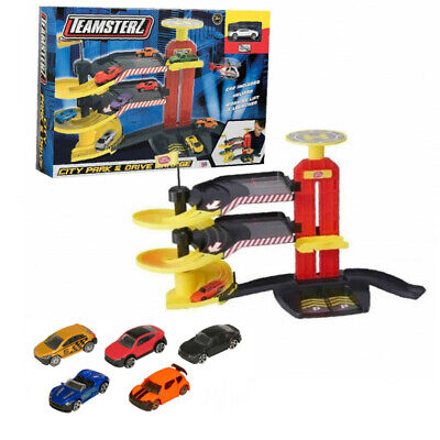£21.95 • Buy KIDS 3 LEVEL MULTI STORY GARAGE CAR PARKING TOY SET GIFT NEW With 5 EXTRA CARS !