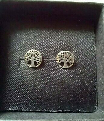 £6.99 • Buy Tree Of Life 925 Silver Stud Earrings With Free Gift Bag Celtic Oak Trees Studs
