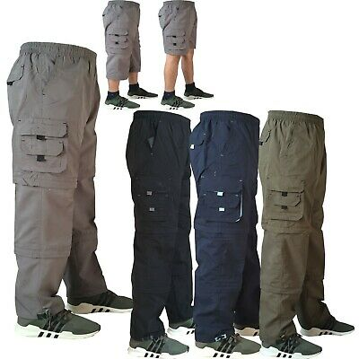 £11.99 • Buy Mens Elasticated Lightweight Cargo Combat Work Trousers 3 In 1 Bottoms Shorts