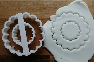 £4.99 • Buy Wreath Fluted Cookie Cutter Biscuit Pastry Fondant Stencil Silhouette Christmas