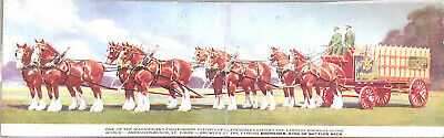 $ CDN12.58 • Buy Vintage Budweiser Clydesdale Wagon Fold Over Color Postcard Unposted