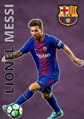 £4.95 • Buy Lionel Messi Poster FC Barcelona 'The Magician' Football Wall Art A3 And A4