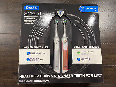 AU134.16 • Buy Oral-B Smart Series Rechargeable Toothbrush 2-Pack, (Silver & Rose Gold)
