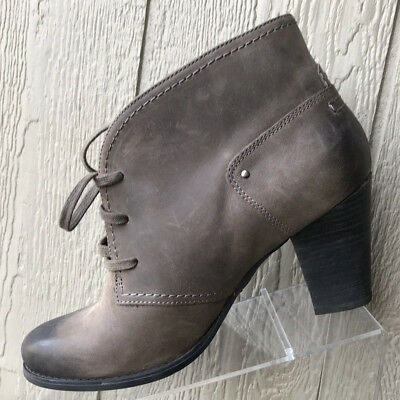 £30.22 • Buy Clarks Artisan Womens Brown Leather Laced High Heel Ankle Boots Size 12M