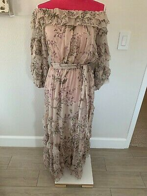 $328 • Buy Zimmermann Unbridled Ruffle Midi Dress Lilac Wisteria Size 1 New With Tags