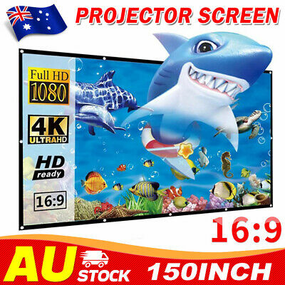 AU26.95 • Buy 150  Foldable Projector Screen Portable Outdoor Home Movie Theater Cinema 16:9
