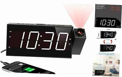 """£32.45 • Buy Projection Digital Alarm Clock For Ceiling,Wall,Bedroom - FM Radio,7"""" Large"""