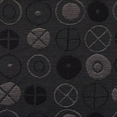 $105 • Buy New Authentic Maharam Circles Upholstery Fabric By Eames Charcoal