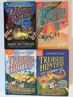 AU47.54 • Buy 4 Book Lot By James Patterson: Treasure Hunters Series Hardcovers