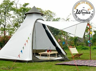 £230 • Buy New Wimba Teepee Yurt Bell Camping Tent - 3-4 Person - Gazebo Marquee Canopy