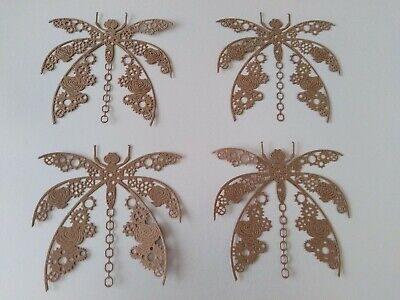 £1.90 • Buy Tattered Lace Steampunk Dragonfly Die Cuts In Recycled Brown Kraft Card Pk Of 4