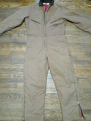 $36.99 • Buy Mens DICKIES Quilt Lined Winter Insulated Canvas Coveralls 38/40 Reg