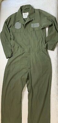 $20.69 • Buy Vintage Military Olive Green Utility Coveralls Long Sleeve Men Size 44R