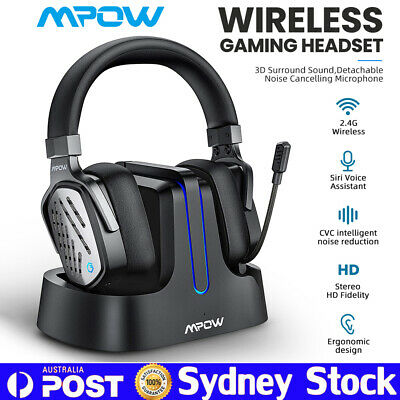 AU111.99 • Buy Mpow Wireless Gaming Headphones PS5/PS4/PC Surround Sound Headset & Base Station