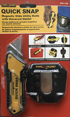 $14.99 • Buy MagnoGrip Quick Snap Magnetic Slide Utility Knife With Universal Holder #002-528