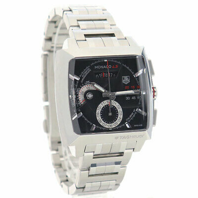 £3466.62 • Buy Auth Tag Heuer Watch Monaco Ls Chronograph At Black Ss Cal2110 Steve Mcqueen F/s