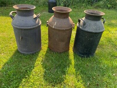 $65 • Buy Large 10  Milk Can For Front Porch, Vintage Milk Jugs From Western Pennsylvania