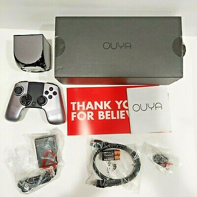 $85 • Buy Working OUYA Silver Game Console W/ Controller, AC Adapter, Manual, And HDMI