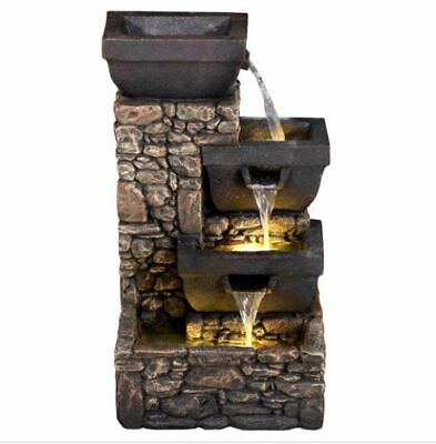 £174.99 • Buy Solar Bowls On Stone Wall Water Feature By Aqua Creations