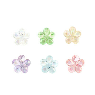 £1.60 • Buy ❤ 50 X Acrylic Transparent 12mm FLOWER SPACER Beads AB Colour Jewellery Making ❤