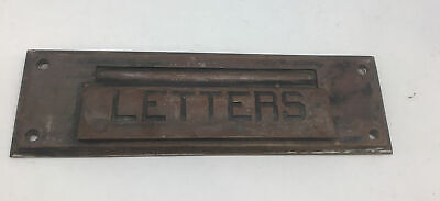 $35 • Buy Vintage Antique Post Office Brass Letters Door Mail Delivery Slot Free Ship
