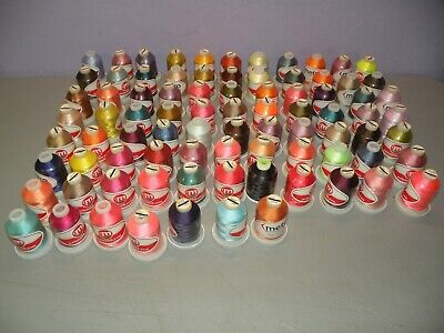 $135.99 • Buy 83 Spools LOT OF METRO MACHINE EMBROIDERY THREAD New NOS