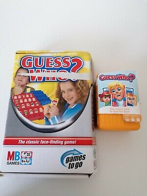 £7.99 • Buy Guess Who Card Game Edition And Travel Edition, Ideal Holiday, Camping Game