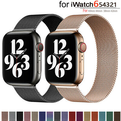 $ CDN6.09 • Buy Milanese Loop Band For Apple Watch SE 6 5 4 3 2 Magnetic Iwatch Strap 40 42 44mm