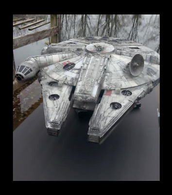 $285 • Buy STAR WARS Large 28  Millennium Falcon Legacy Look Prop Falcon Plus Stand Display