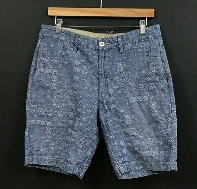 $26.24 • Buy Robert Graham Men's Classic Fit Embroidered Blue Chambray Shorts Sz 32