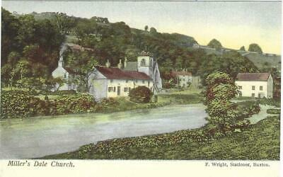 £2 • Buy OLD WRIGHT POSTCARD CIRCA 1900's - BUXTON - MILLERS DALE CHURCH