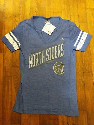 $15 • Buy Nwt Women's Majestic Chicago Cubs Northsiders Shirt Blue New MLB