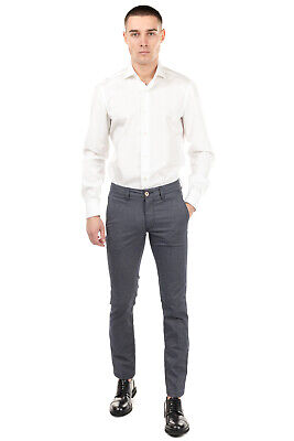 $1.36 • Buy RRP €105 FRADI Flat Front Trousers Size 32 Stretch Textured Made In Italy