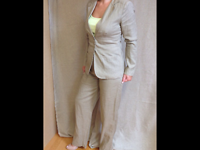 £39.99 • Buy Brand New 100% Linen Trouser Suit By Nikki Valenti, Fully Lined, Sz 4. (Uk 8)