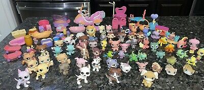 £35.63 • Buy Lot Of 61 Littlest Pet Shop W/ Accessories Play Sets (2005-2008) Dogs Cats Etc