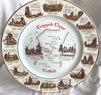 £12.50 • Buy Rare  MINERS PLATE -Cannock Chase  Area