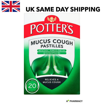 £5.95 • Buy Potters Mucus Cough Pastilles With Menthol And Eucalyptus Oil - 20