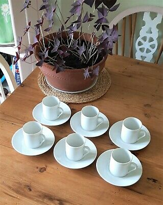 £29 • Buy Set Of 6 Vintage Limoges Porcelain Coffee Or Espresso Cups And Saucers
