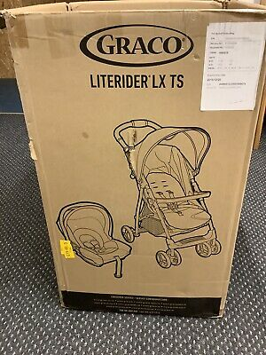 """£121 • Buy Graco LiteRider LX Travel System Black And Red/tangerine """"New"""""""