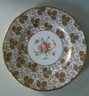 £15 • Buy Vintage Minton Hand Painted Gold Floral Cabinet Plate H4984 (c.1912-1950)